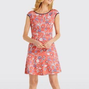 Draper James Floral Ponte Dress NWT Coral Multi
